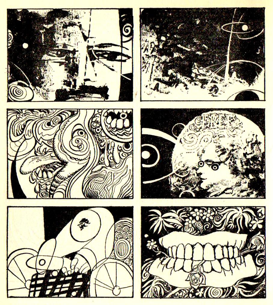 Abstract Comics av Jose Maria Bea, 1968